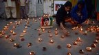 Supporters of the ruling Pakistan People's Party light candles to mark Malala Day in Islamabad, Pakistan