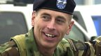 Maj Gen David Petraeus as he hands over command of the 101st Airborne in 2004