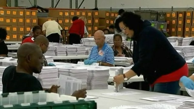 Votes being counted in Florida