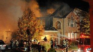 Explosion site in Indianapolis, 11 Nov
