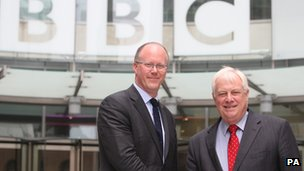 George Entwistle and BBC Trust chairman Lord Patten