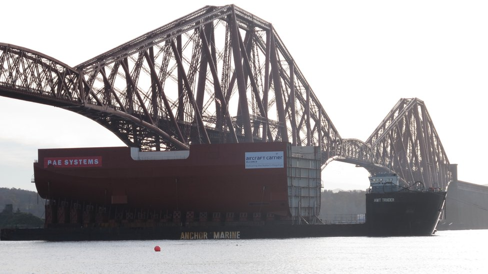 Carrier section and Forth Bridge