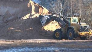 Stock of road salt