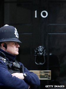 policeman at Downing Street