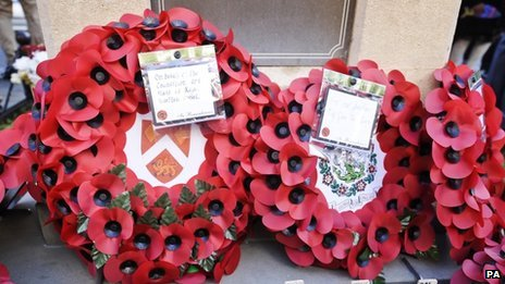Wreaths laid in Wootton Bassett
