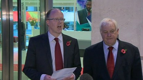 George Entwistle made his resignation statement outside New Broadcasting House with BBC Trust chairman Lord Patten
