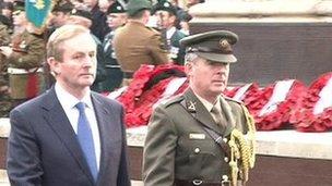 Irish Prime Minister Enda Kenny in Enniskillen