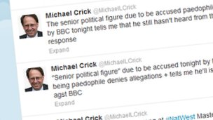 Michael Crick tweets