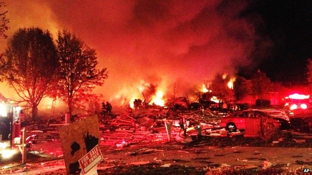 Scene of explosion in Indianapolis
