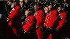 Marching servicemen