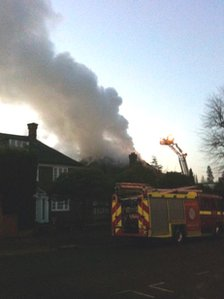 Fire at property in The Bishops Avenue