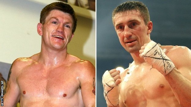 Ricky Hatton and Vyacheslav Senchenko