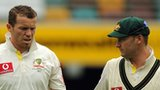 Australia's Peter Siddle and Michael Clarke