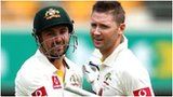 Ed Cowan (left) with skipper Michael Clarke