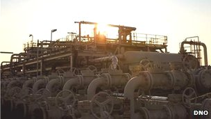 Picture of equipment at the Tawke field in the Kurdistan region of Iraq
