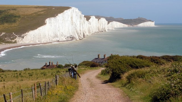Fishermen in Seven Sisters, Sussex, England