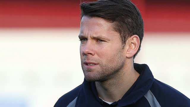 Accrington Stanley player-coach James Beattie