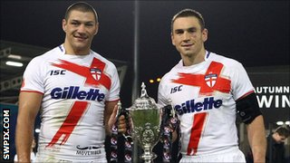 Ryan Hall and Kevin Sinfield