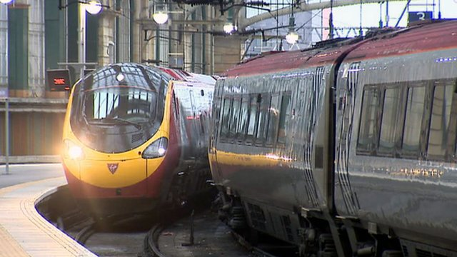 Virgin Trains in Glasgow&#039;s Central Station