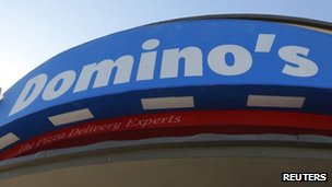 Domino's pizza sign