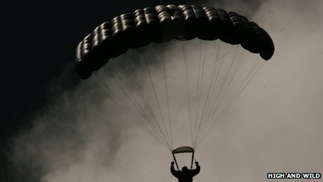 Man in parachute