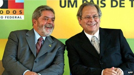 Lula (left) and Jose Dirceu, archive photo