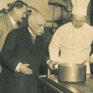 Auguste Escoffier testing recipes