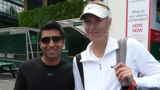 Vivek Sethia and Maria Sharapova
