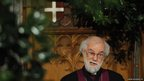The Archbishop of Canterbury Dr Rowan Williams addresses the Lord Mayor's banquet