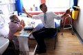 Health Secretary Jeremy Hunt meets dementia sufferer Monica Kneebone on the Marjory Warren ward at King's College Hospital