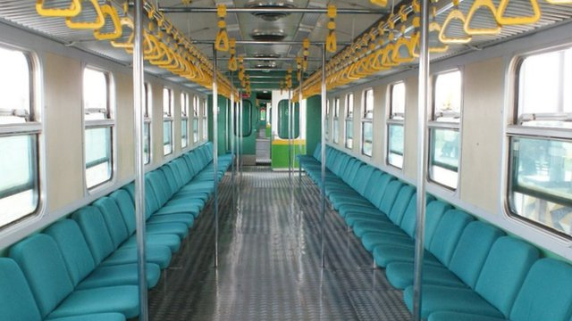 Interior of Nairobi's new commuter train