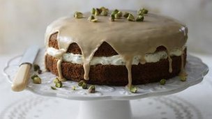 Coffee and cardamom cake