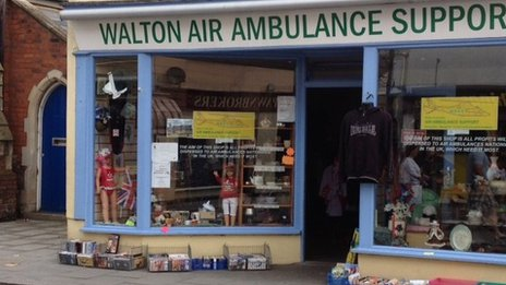 Bogus air ambulance shop, Walton-on-the-Naze