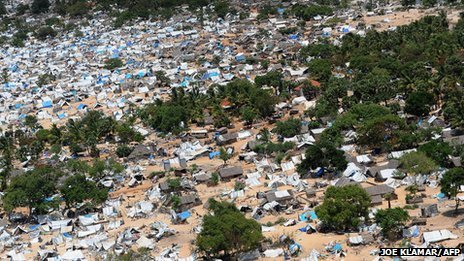 A general view of the abandoned conflict zone in north-east Sri Lanka where Tamil Tiger separatists made their last stand before their defeat by the army, May 23, 2009.