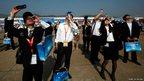 Spectators at the China International Aviation and Aerospace Exhibition in Zhuhai