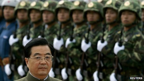 Outgoing Chinese President Hu Jintao inspects troops of the People's Liberation Army stationed in Hong Kong, file pic from June 2007