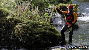 One of the many mountain rescue volunteer members who helped search for missing April