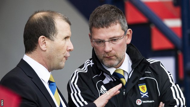 Regan and Levein are at loggerheads