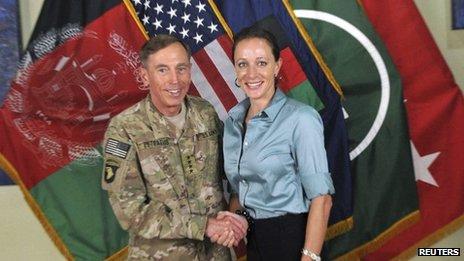 Gen Petraeus and Paula Broadwell