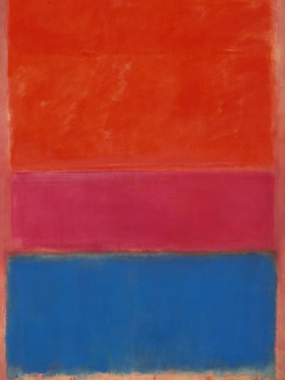 Rothko&#039;s No 1 (Royal Red and Blue) - detail