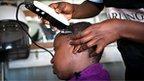 Kenyan hairdressers