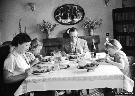 Family dinner 1938