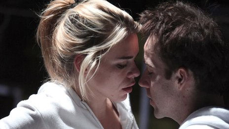 Billie Piper and Jonjo O'Neill in The Effect