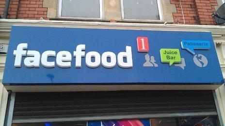 Facefood sign