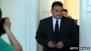 Croatian Deputy Prime Minister Radimir Cacic