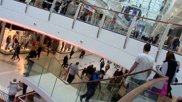 People in a shopping centre