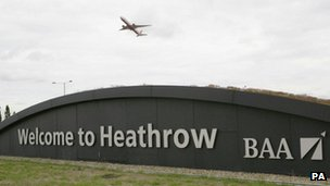 Heathrow sign