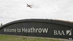 Heathrow sign