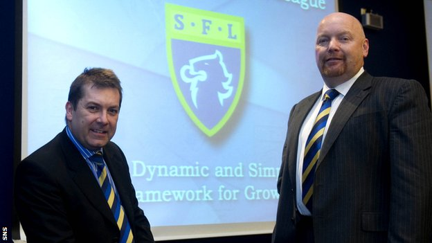 David Longmuir and SFL president David Ballantyne