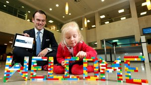 Head of Danske Bank UK and Ireland Gerry Mallon welcomes the name change with Karis MacLean, 3.